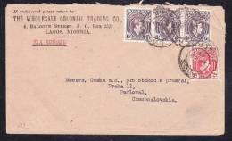 E-AFR-13 LETTER FROM NIGERIA LAGOS TO CZECHOSLOVAKIA 24.03.47