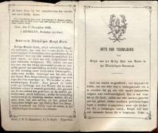 Devotie - Akte Van Toewijding Van Belgie Aan Het Heilig Hart Van Jezus - Gent 1868 - Faire-part
