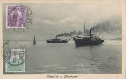 Hongrie -  Bâteaux Vapeurs Lac Balaton - Oblitération Budapest 1916 - Hungary