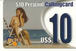 Antilles-FROM ST.MAARTEN-$10 PREPAID CALLING CARD-MINT+2 CARD PREPIAD FREE - Antilles (Netherlands)