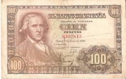 BILLETE DE ESPAÑA DE 100 PTAS DEL 2/05/1948 SIN SERIE   BC  (BANKNOTE) -RARO - [ 3] 1936-1975 : Régimen De Franco