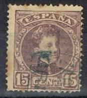 Sello 15 Cts Alfonso XIII Cadete, Carteria GRISEN (Zaragoza) Azul, Num 246 º - 1889-1931 Reino: Alfonso XIII