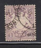Bavaria Used Scott #32 1m Coat Of Arms, Violet - Bavière