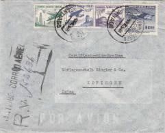 CHILE 1957, Reco-LP-Brief, 4 Fach Frankierung Gelaufen Von Santiago - Chile > Zofingen - Schweiz - Chile