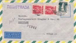 BRASIL 1956, Reco-LP-Brief, 3 Fach Frankierung Gelaufen Von Rio De Janairo - Braslien > Zofingen - Schweiz - Brasilien