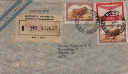 ARGENTINA 1950, Reco-LP-Brief, 3 Fach Frankierung Gelaufen Von Buenes Aires - Argentinien > Zürich - Schweiz - Argentinien