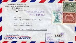 GUATEMALA 1956, Reco-LP-Brief, 3 Fach Frankierung Gelaufen Von Guatemala > Zofingen - Schweiz - Guatemala