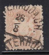 Bavaria Used Scott #27a 9kr Coat Of Arms, Pale Brown - Bavière