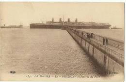 76 - LE HAVRE PAQUEBOT Le France à L´entrée Du Port - Non Circulée  - Cauff - Le Havre