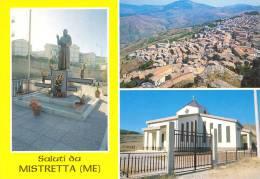 MISTRETTA (ME) VEDUTINE CON LA STATUA DI PADRE PIO - Messina