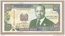 Kenia - Banconota Non Circolata Da 10 Scellini - 1993 - Kenya