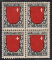 Zu J  15 PRO JUVENTUTE 1920 Bloc De 4 ** / MNH SBK 60,- à 25 % - Neufs