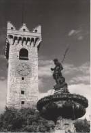 TRENTO--TORRE CIVICA (DI PIAZZA) E FONTANA DEL NETTUNO IN PIAZZA DUOMO--FG--V 7-10-57 - Trento