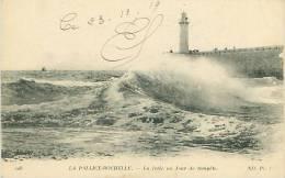 17 - LA PALLICE-ROCHELLE - La Jetée Un Jour De Tempête (ND Phot. 208) - La Rochelle