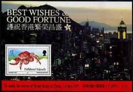 Falkland 1997 - Retour De Hong Kong A La Chine, Crabe - BF *** (MNH) - Falkland