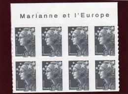 210 De 2008 - (4228) - Neuf ** Adhésif. Bloc De 8 Timbres Marianne Et L´Europe - Beaujard. 10c.. - Autoadesivi