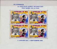 MALI Bloc 4 * MH : Albert SCHWEITZER Kaysersberg Nobel Paix Lambaréné Lèpre Gunsbach Gabon - Albert Schweitzer