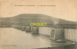 Cpa 21 Vitteaux, Le Barrage De Grosbois, Affranchie Ambulant Epinac 1908 - Autres Communes