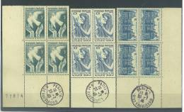 VEND BEAUX BLOCS DE 4 + BDF, N° 760 - 762 + CACHETS R. DE VAUGIRARD 29.7.46 , NEUFS SANS CHARNIERE !!!! - 1921-1960: Periodo Moderno