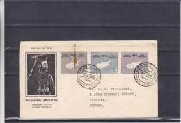 Chypre - Lettre De 1960 - Carte De Chypre - Cyprus (Republic)
