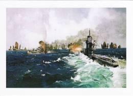 Maritime Art Postcard Surface Chris Mayger Painting WW2 Submarine - Submarines