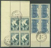VEND BEAUX BLOCS DE 4 + BDF, N° 760 - 761 + CACHETS CONFERENCE DE PARIS 29.7.46 , NEUFS SANS CHARNIERE !!!! - 1921-1960: Periodo Moderno