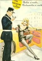HUMOUR CODE DE LA ROUTE  POLICIER VERBALISANT UNE JOLIE AUTOMOBILISTE FIN INTERDICTION DE STATIONNER PHOTOCRROM 50373 - Humor