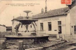CEYZERIAT - Fontaine Des Cygnes Et Poste    (54818) - Autres Communes