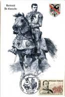 Carte Maximum Du Guesclin à Cheval Avec Timbre Yv. & Te. N°1295 De 1961 - 1960-69