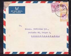 E-ASIA-25 LETTER FROM SINGAPURE TO CZECHOSLOVAKIA 21.06.49 - Singapour (1959-...)