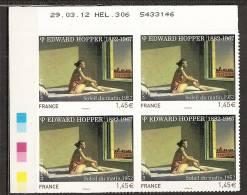 2012 - N°661A** -  EDWARD HOPPER - Coin Daté - Adhésifs (autocollants)