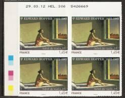 2012 - N°661A** - Edward Hopper - Coin Daté - Légère Pliure Au Niveau Du 6 De 306 Sur Toute La Hauteur - Adhésifs (autocollants)
