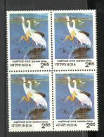 INDIA, 1983, Siberian Cranes, Crane, Fauna, Bird, Block  Of 4,  MNH, (**) - Nuovi