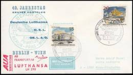 Germany 1967, Airmail Cover Berlin - Wien, Jubille Special Airpost - Usati