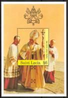 1986 St.Lucia Papi Popes Papes Wojtyla Jean Paul II Block MNH** No122 - St.Lucia (1979-...)