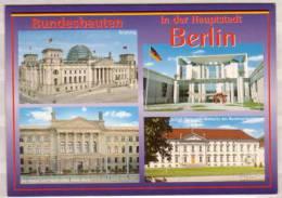 Berlin Bundesbauten , Mehrbildkarte , Reichstag - Bundeskanzleramt - Bundesrat Im Preußischen Herrenhaus - - Ohne Zuordnung