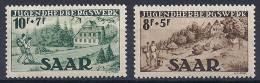 Sarre -Auberges De La Jeunesse YT 250-251**/ Saarland-JugendhebergswerK Mi.Nr. 262-263** - 1947-56 Occupation Alliée