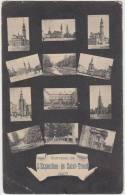 17835g GRAND'PLACE - PARC - ALLEE - EGLISE - Saint-Trond - 1907 - Mosaïque - Sint-Truiden