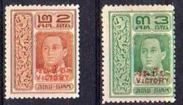 1918 Victory Mi 141-2 Mint Hinged Very Fine !! (th75) - Siam