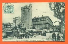 """Dpt   84   Avignon   """"  Tour St Jean - Place Pie Et Rue Ste Garde  """" Roulottes - Marche - Puces - Avignon"""