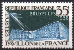 FRANCE 1156 ** MNH Pavillon De La FRANCE Exposition Universelle Bruxelles 1958 - France
