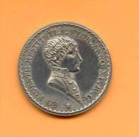 Rhone - JETON D´AGENT DE CHANGE DE LYON - 1803 -  AN XII - Signé : Mercié   LUG  - EN ARGENT - *  Trés Rare - Professionali / Di Società