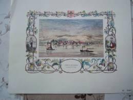 Gravure COPET COPPET ET SON CHATEAU OU HABITAT MME DE STAËL L TOBB N°967 SUISSE - Prints & Engravings