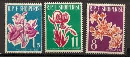 Albanie Shqiperia 1961 N° 555 / 7 ** Flore, Fleurs, Lis, Lys, Forsythia, Cyclamen - Albanien