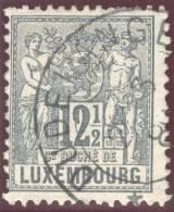 Luxemburg 1882 Mi#50A 12.5C. Schieferblau Gezähnt 12.5/12 Gestempelt - 1882 Allegorie