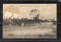 38550    Gibuti-Djibouti  -  Entree  Du  Palais  Du  Gouvernement,  VGSB  1913 - Gibuti