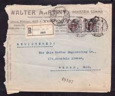 E-EU-33 LETTER FROM ITALY TO USA AKRON OHIO 08.01.1924