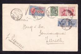 E-EU-38 LETTER FROM ITALY TO SUISSE ZURICH 29.04.1926