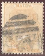 Malta 1882 Mi#3a 1/2 P. Gelborange Gestempelt - Malte