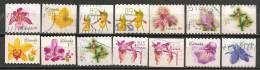 AF001 Canada 12 Stamps Used-oblit.-gestempeld - Orchidées